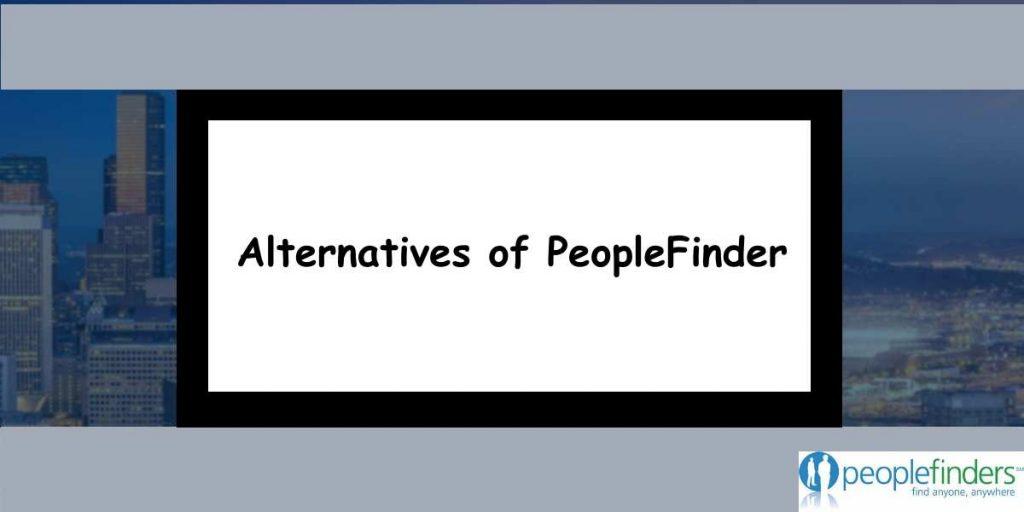 Alternatives of PeopleFinder