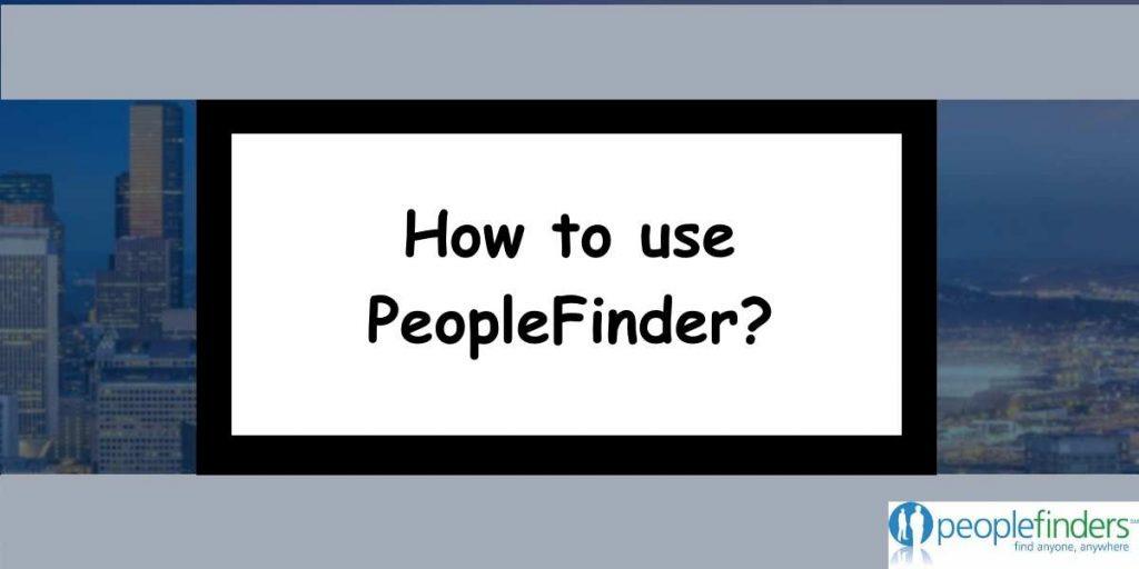How to usePeopleFinder?