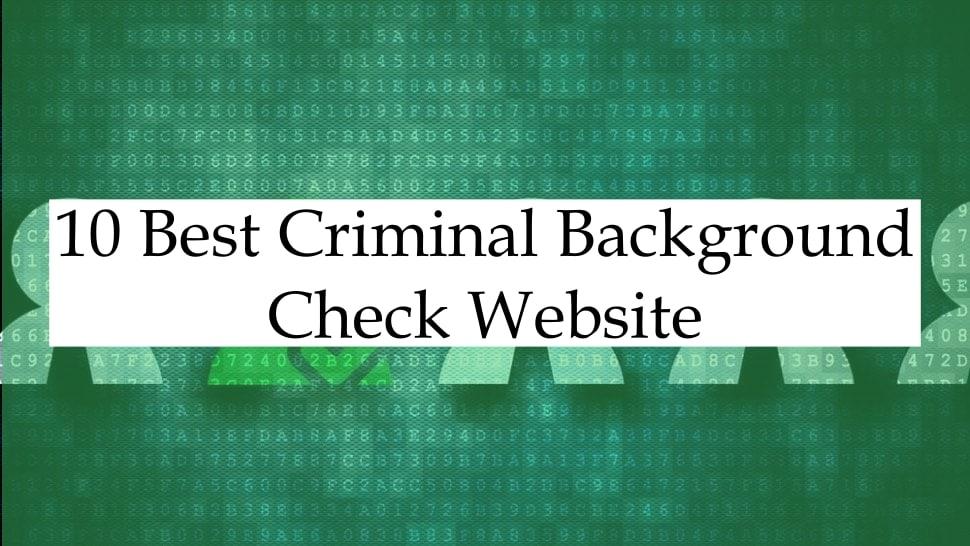 Best Criminal Background Check Website