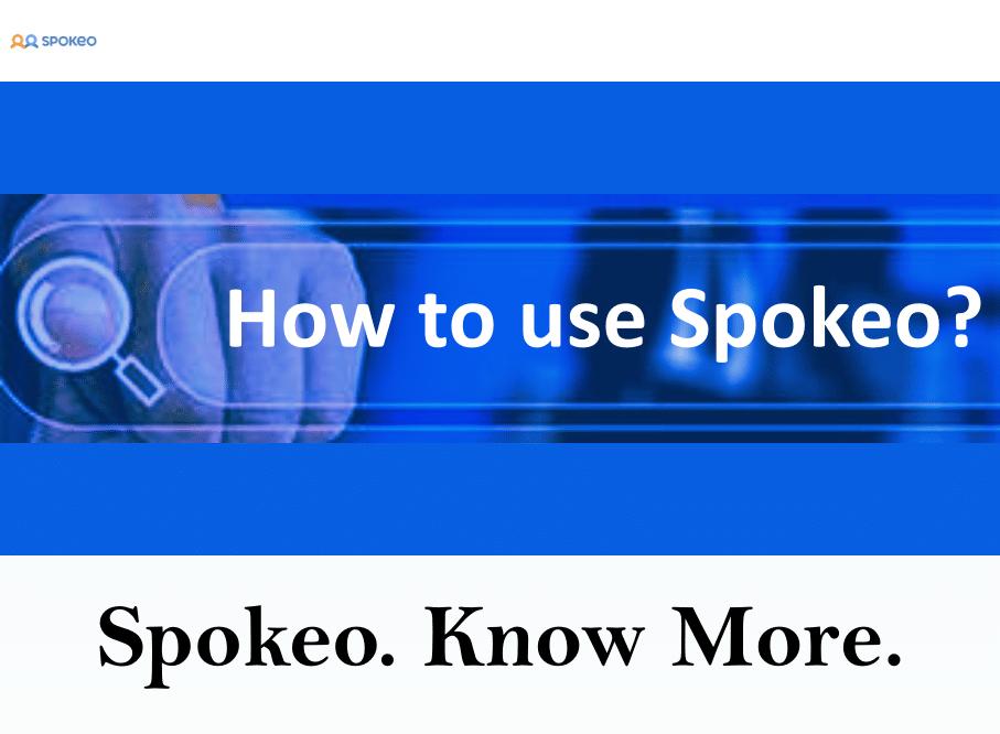 How to use Spokeo?