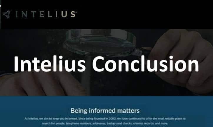 Intelius Conclusion
