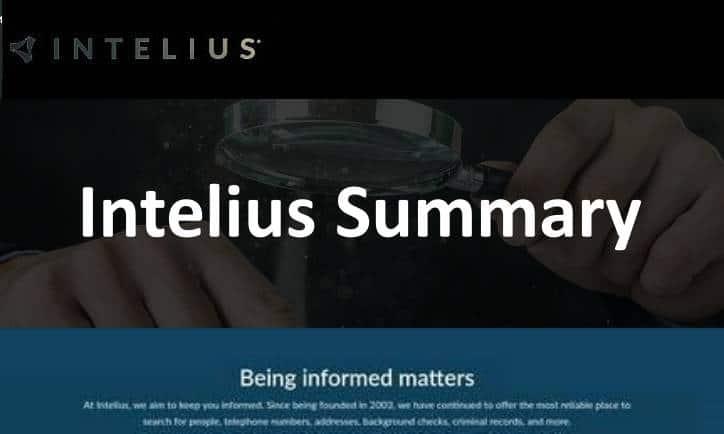 Intelius Summary