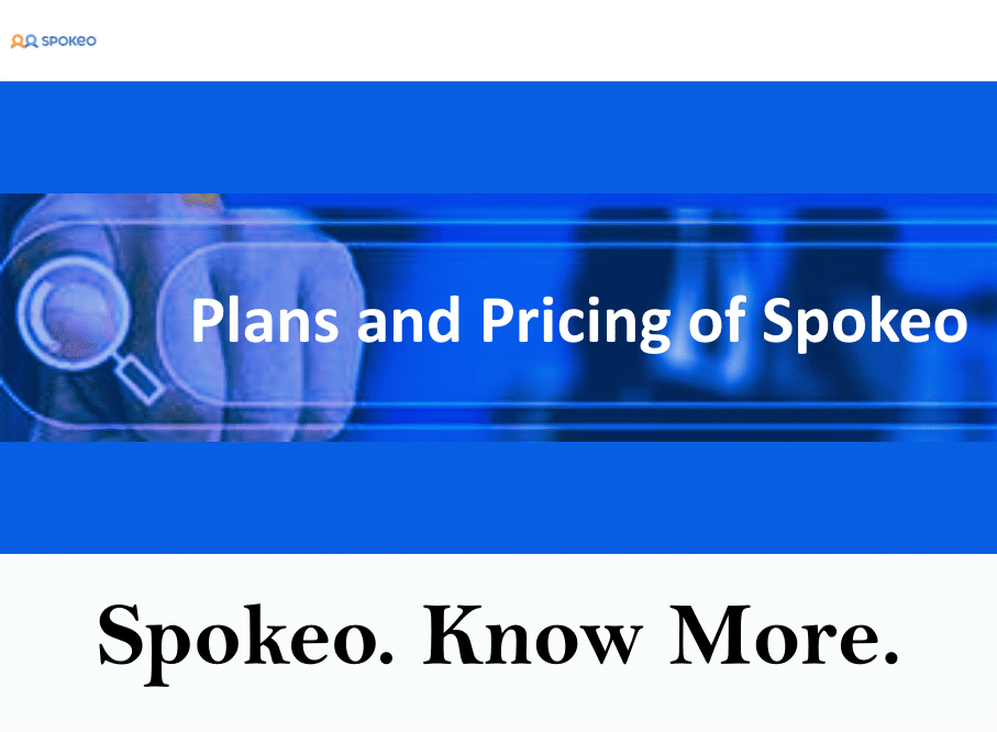 Plans and Pricing of Spokeo
